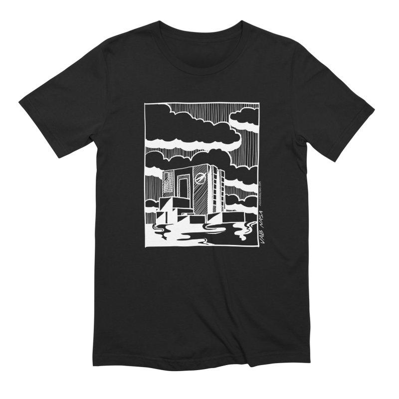 Vehicle Assembly Building NASA Men's Extra Soft T-Shirt by Juleah Kaliski Designs