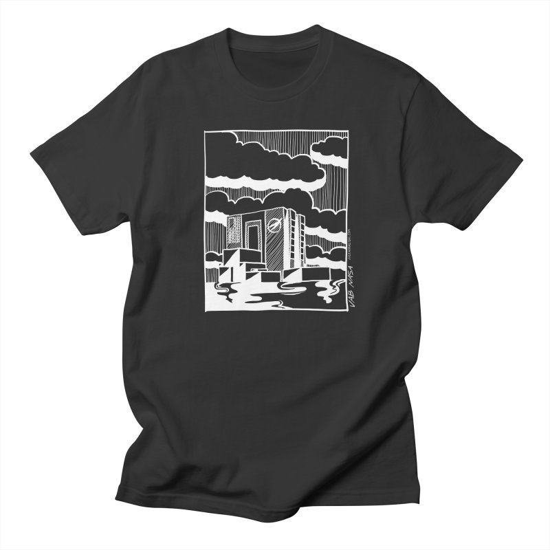 Vehicle Assembly Building NASA Men's T-Shirt by Juleah Kaliski Designs