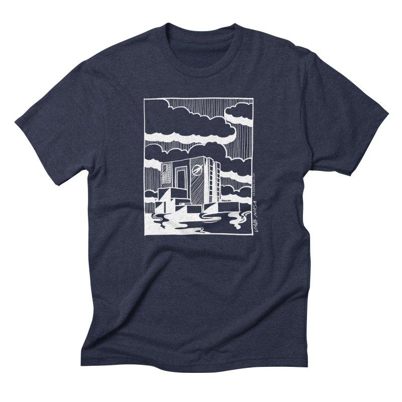 Vehicle Assembly Building NASA Men's Triblend T-Shirt by Juleah Kaliski Designs