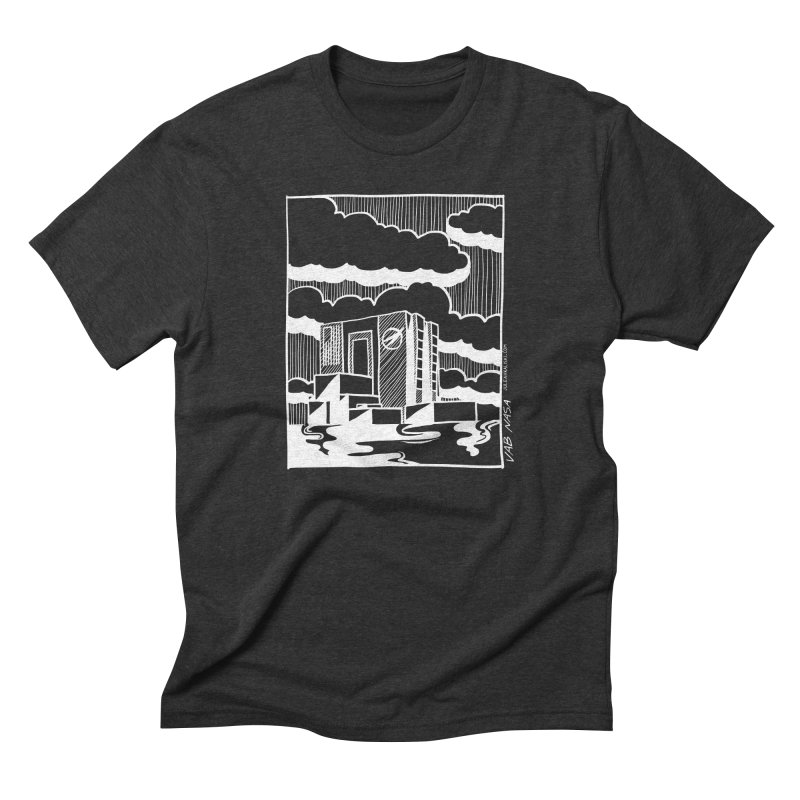 Vehicle Assembly Building NASA Men's Triblend T-Shirt by Juleah Kaliski Designs