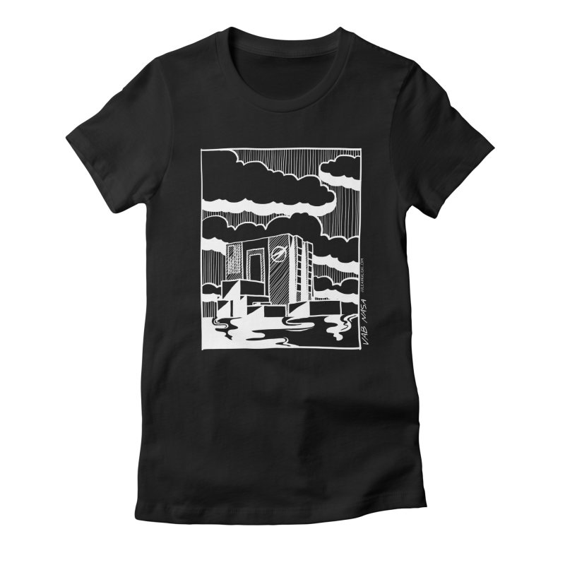 Vehicle Assembly Building NASA Women's Fitted T-Shirt by Juleah Kaliski Designs