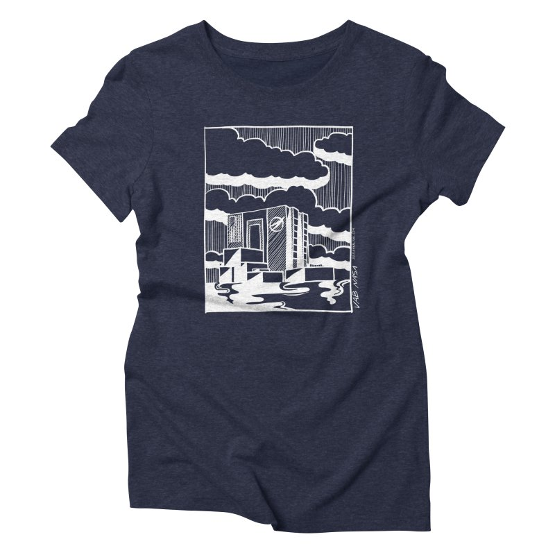 Vehicle Assembly Building NASA Women's Triblend T-Shirt by Juleah Kaliski Designs