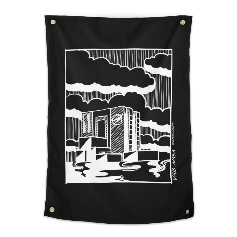 Vehicle Assembly Building NASA Home Tapestry by Juleah Kaliski Designs