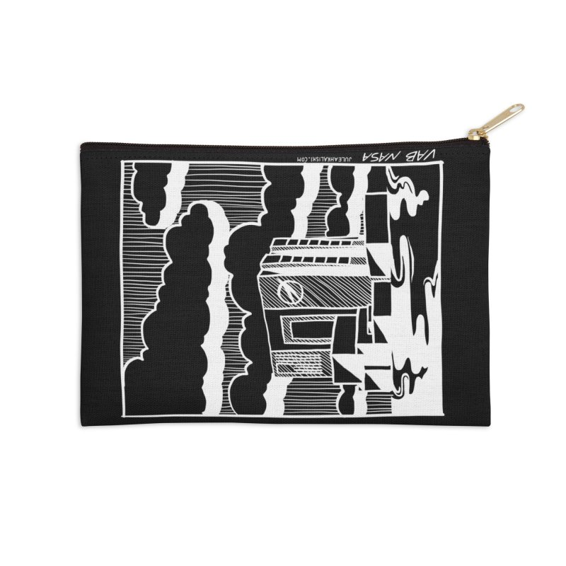 Vehicle Assembly Building NASA Accessories Zip Pouch by Juleah Kaliski Designs