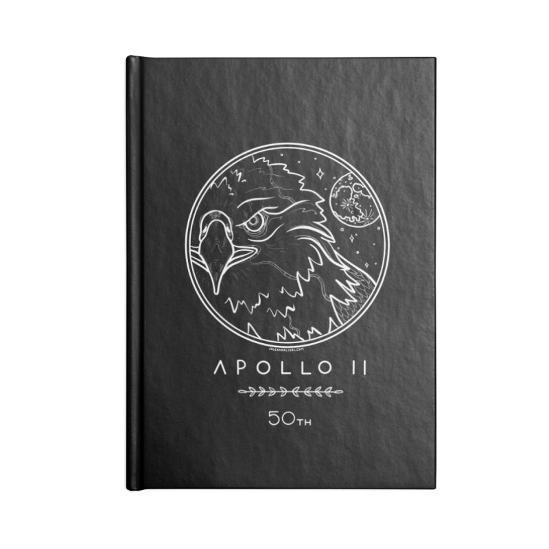 Apollo 11 50th Anniversary Accessories Lined Journal Notebook by Juleah Kaliski Designs