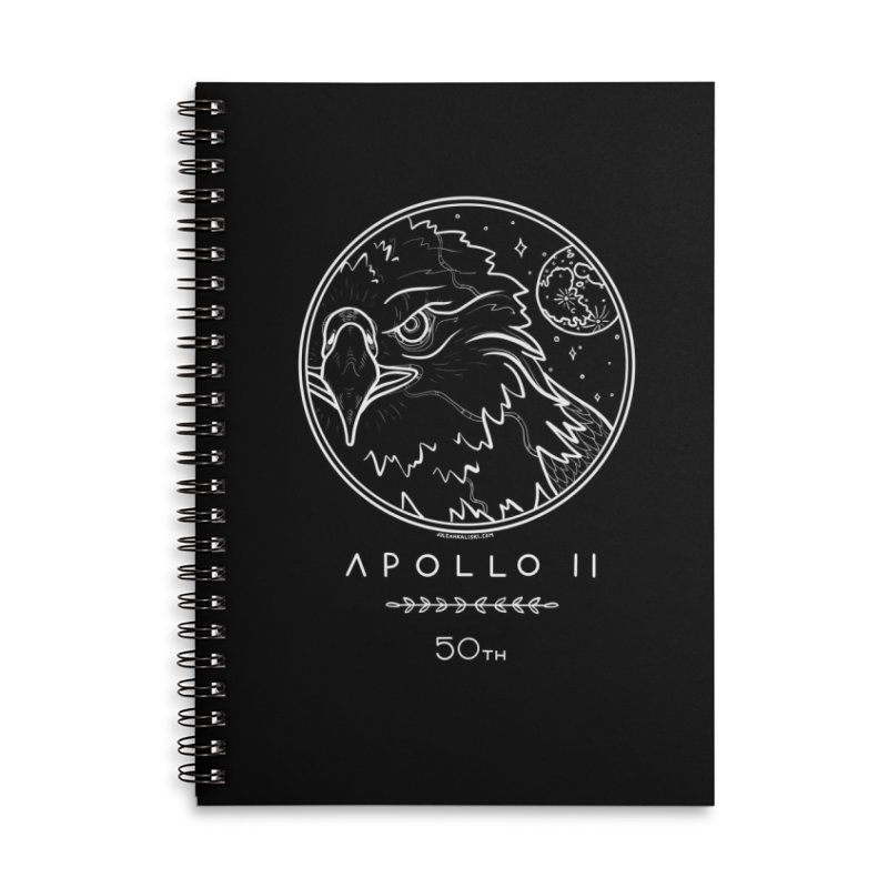Apollo 11 50th Anniversary Accessories Lined Spiral Notebook by Juleah Kaliski Designs