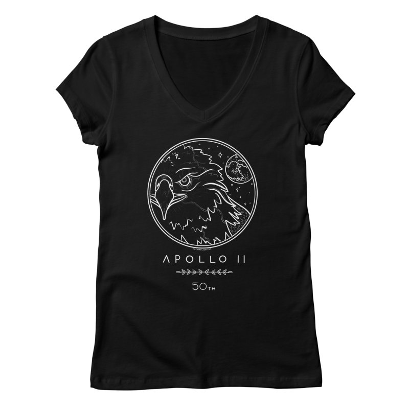 Apollo 11 50th Anniversary Women's Regular V-Neck by Juleah Kaliski Designs