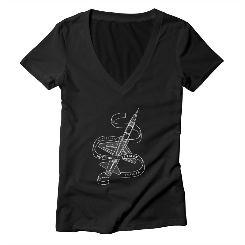T-38 Talon Women's V-Neck by Juleah Kaliski Designs