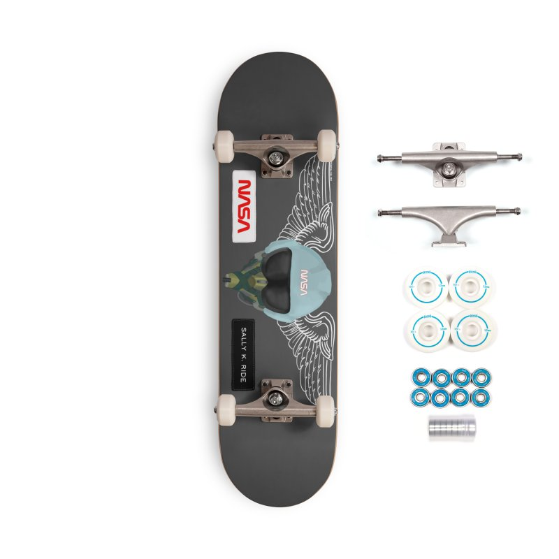 Sally Ride Tribute Accessories Skateboard by Juleah Kaliski Designs