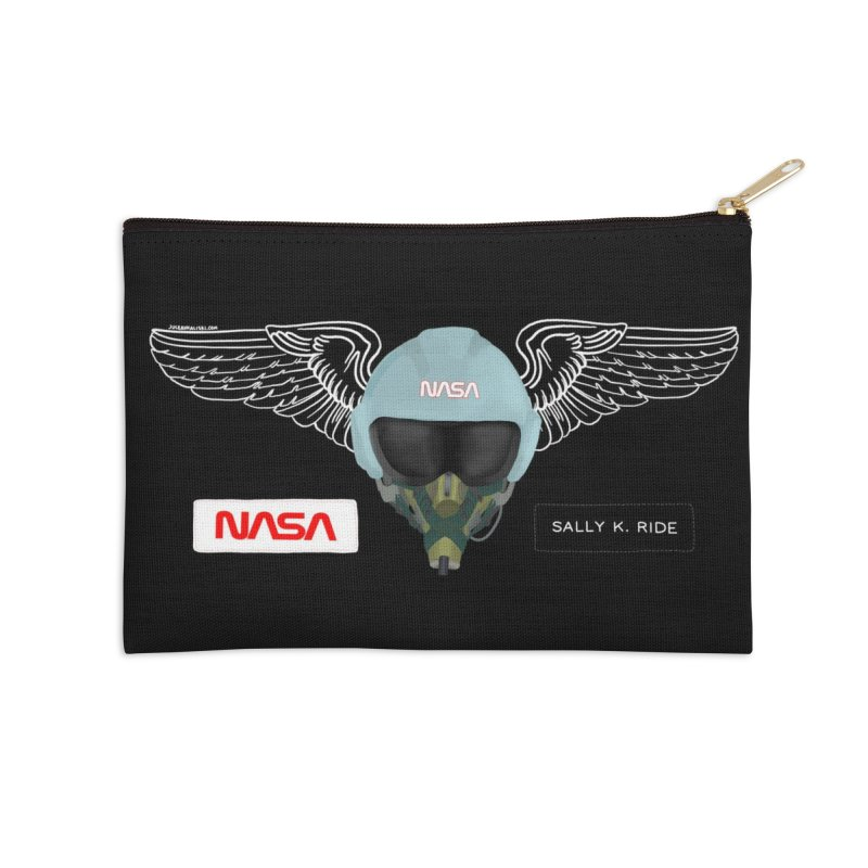 Sally Ride Tribute Accessories Zip Pouch by Juleah Kaliski Designs