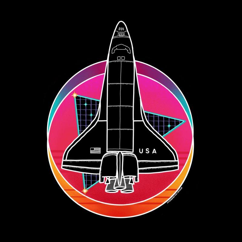 Synthwave Shuttle Women's Sweatshirt by Juleah Kaliski Designs