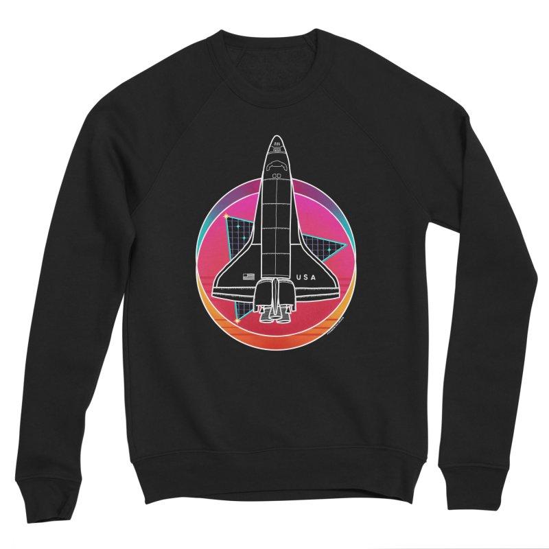 Synthwave Shuttle Men's Sweatshirt by Juleah Kaliski Designs