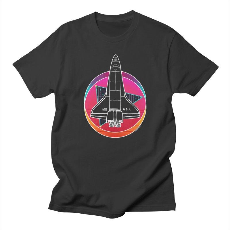 Synthwave Shuttle Men's T-Shirt by Juleah Kaliski Designs