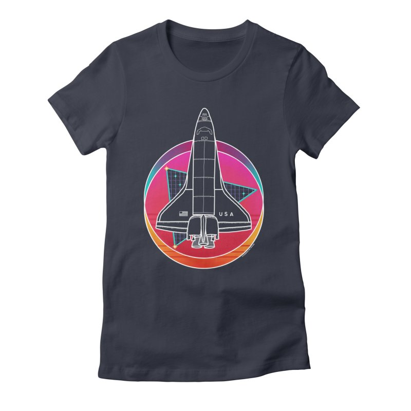 Synthwave Shuttle Women's T-Shirt by Juleah Kaliski Designs