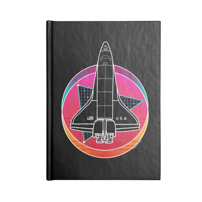 Synthwave Shuttle Accessories Notebook by Juleah Kaliski Designs