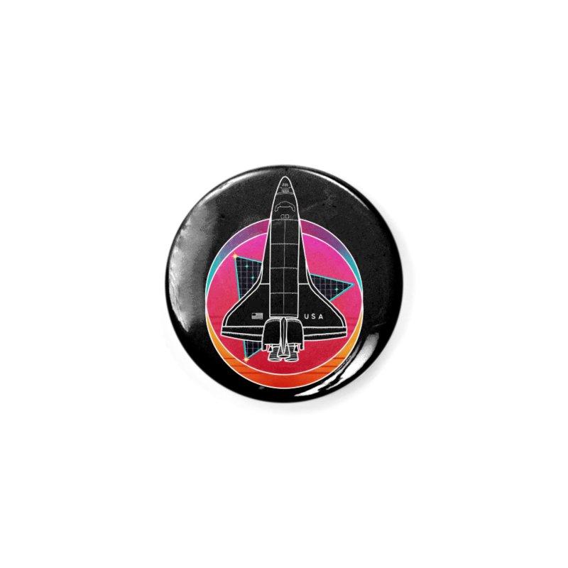 Synthwave Shuttle Accessories Button by Juleah Kaliski Designs