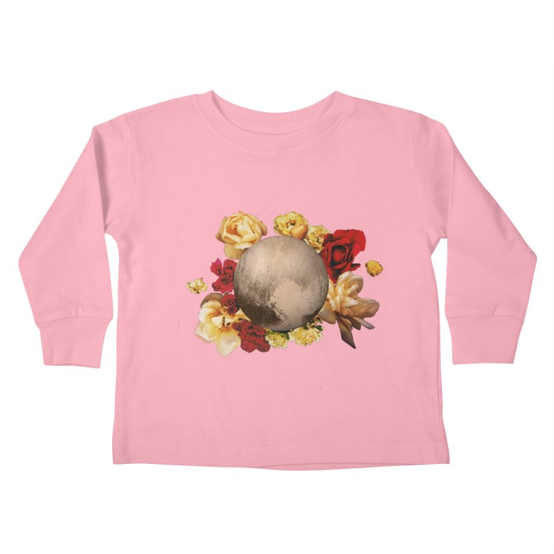 Roses are red, Violets are blue, I love Pluto and so do you. Kids Toddler Longsleeve T-Shirt by Juleah Kaliski Designs