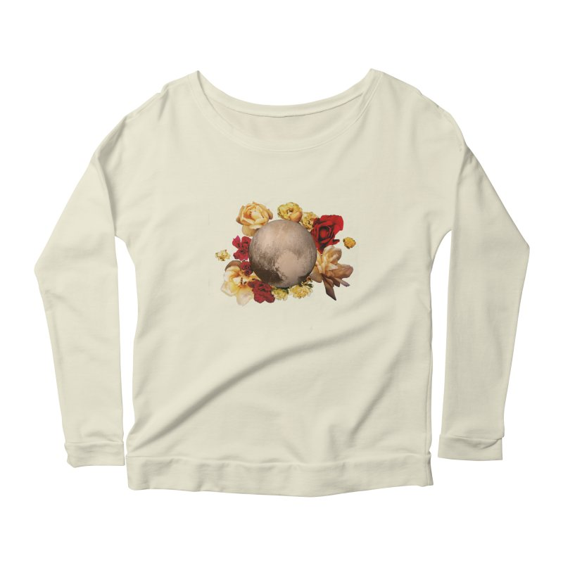 Roses are red, Violets are blue, I love Pluto and so do you. Women's Scoop Neck Longsleeve T-Shirt by Juleah Kaliski Designs