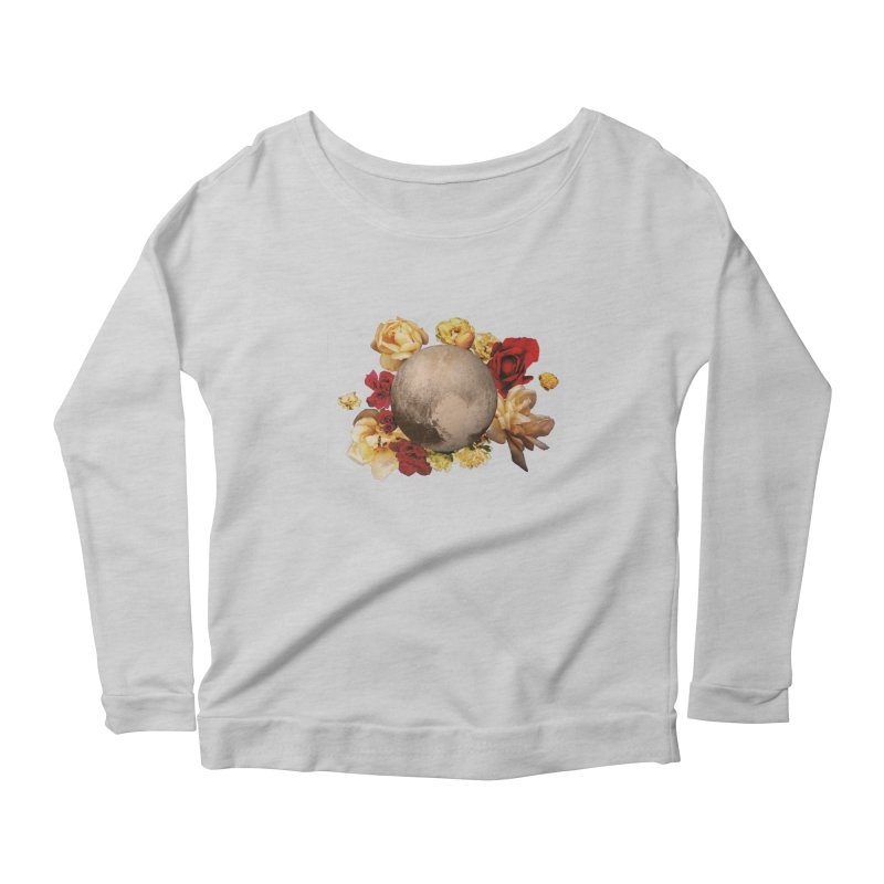 Roses are red, Violets are blue, I love Pluto and so do you. Women's Longsleeve Scoopneck  by Juleah Kaliski Designs