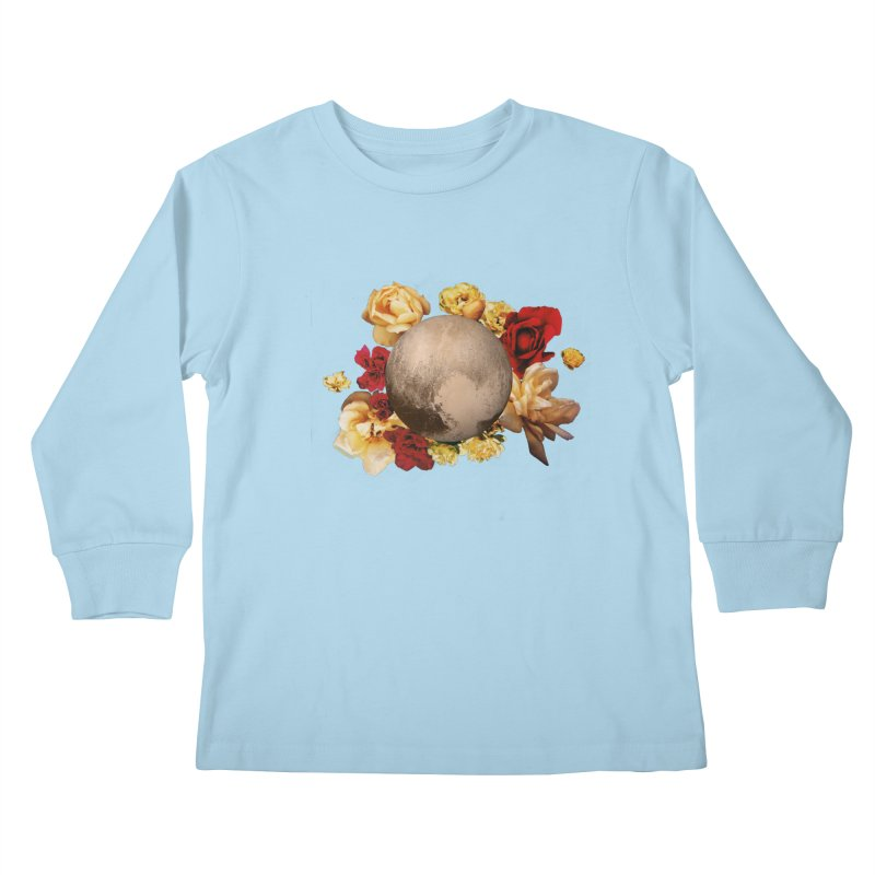 Roses are red, Violets are blue, I love Pluto and so do you. Kids Longsleeve T-Shirt by Juleah Kaliski Designs