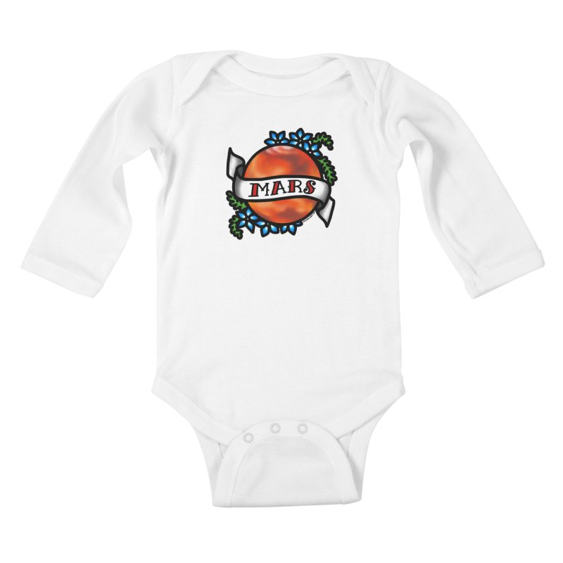 Mars, I shall always love you Kids Baby Longsleeve Bodysuit by Juleah Kaliski Designs