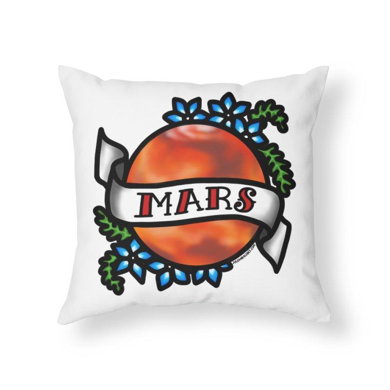 Mars, I shall always love you Home Throw Pillow by Juleah Kaliski Designs