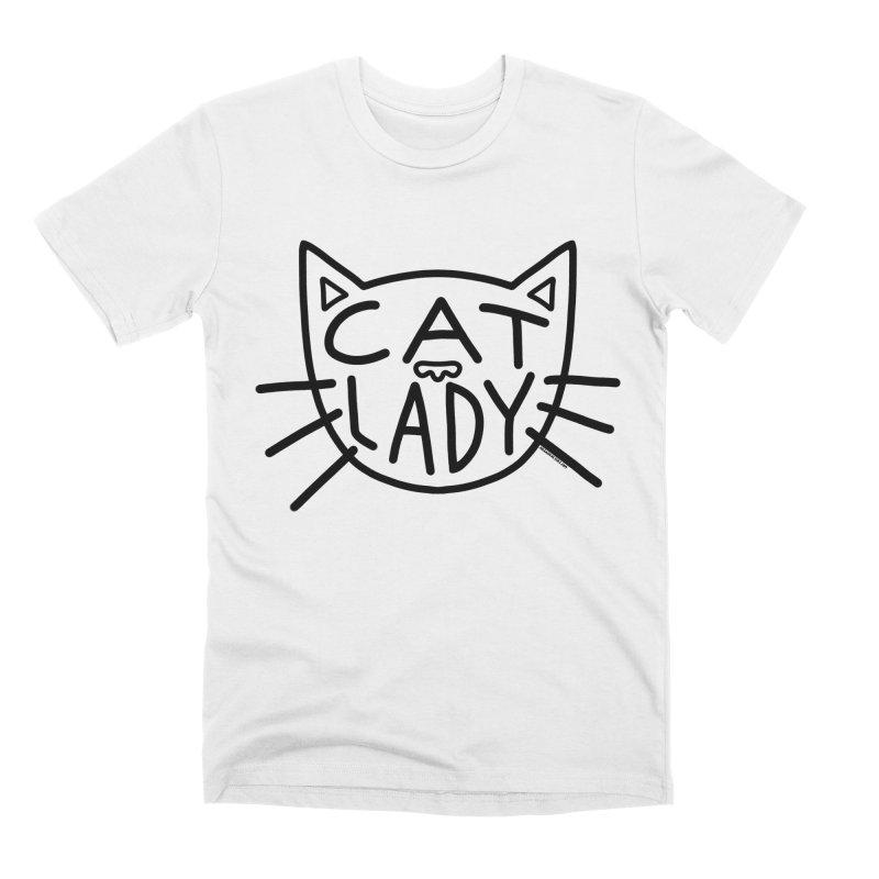 Cat Lady Men's Premium T-Shirt by Juleah Kaliski Designs