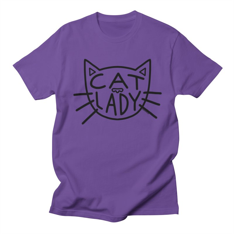 Cat Lady Women's Regular Unisex T-Shirt by Juleah Kaliski Designs