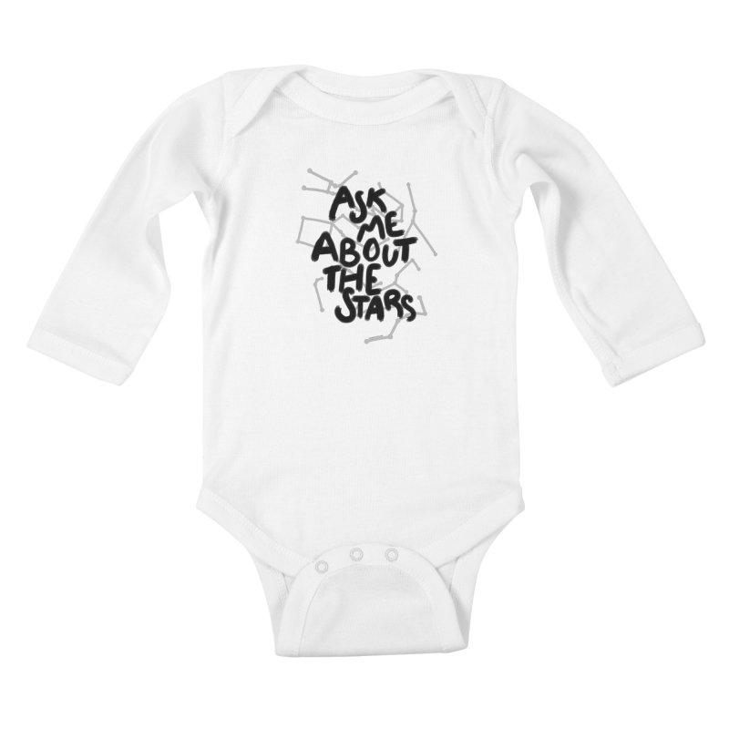 Ask Me About The Stars Kids Baby Longsleeve Bodysuit by Juleah Kaliski Designs