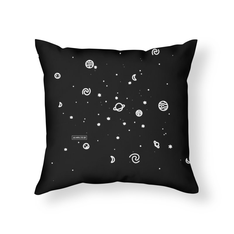 Cosmic Cluster Home Throw Pillow by Juleah Kaliski Designs