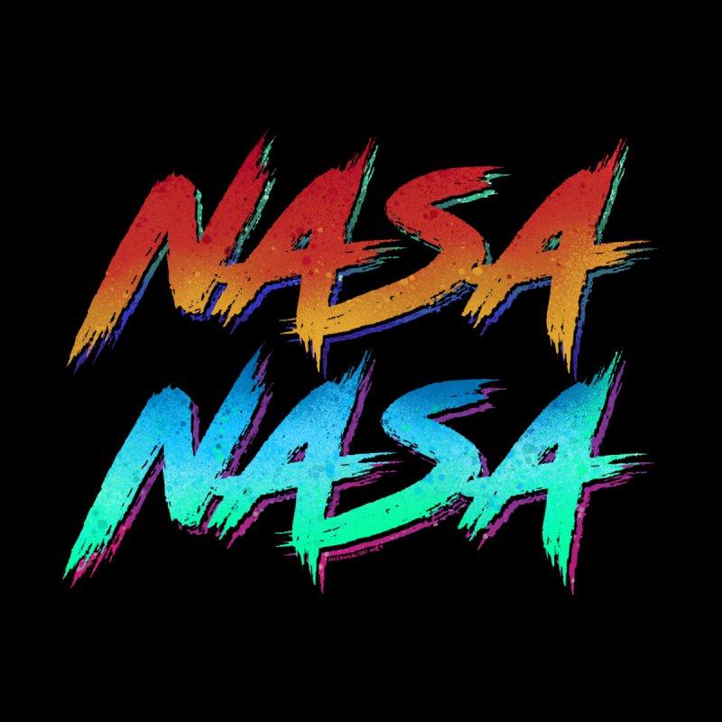 NASA graffiti Men's T-Shirt by Juleah Kaliski Designs