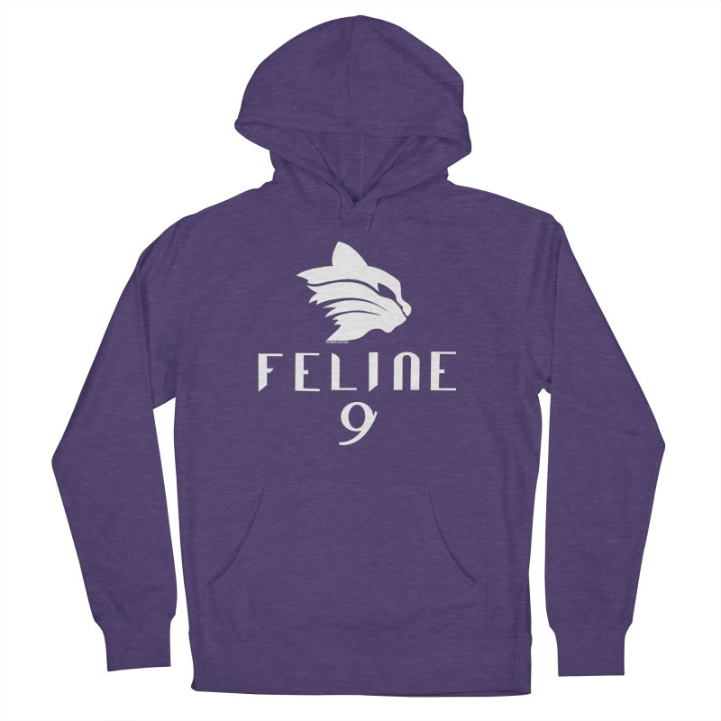 Feline 9 - WHITE Men's French Terry Pullover Hoody by Juleah Kaliski Designs