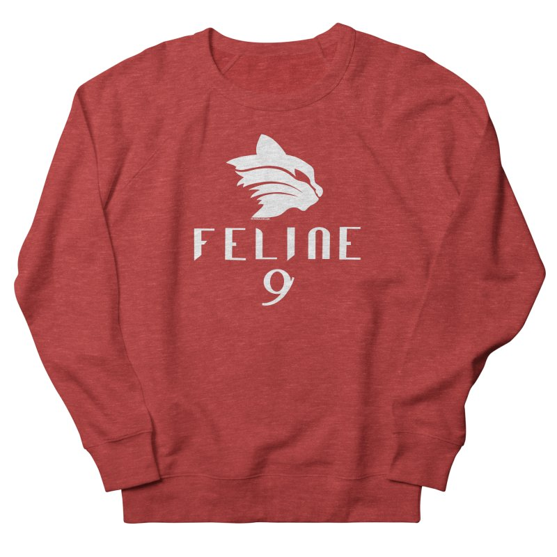 Feline 9 - WHITE Women's French Terry Sweatshirt by Juleah Kaliski Designs