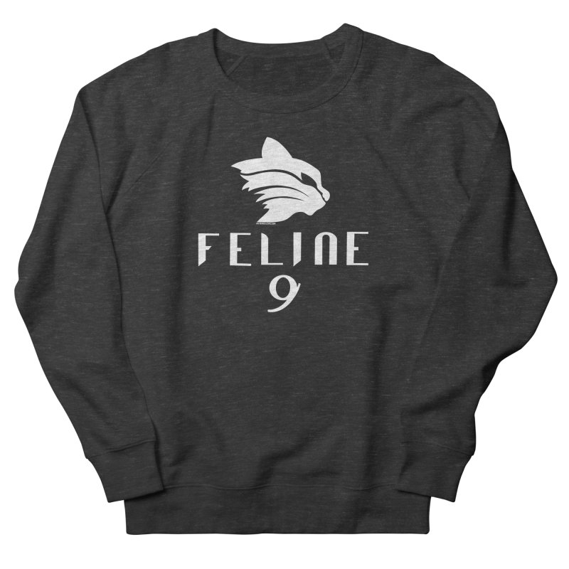 Feline 9 - WHITE Men's Sweatshirt by Juleah Kaliski Designs