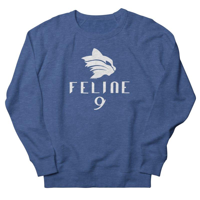Feline 9 - WHITE Men's French Terry Sweatshirt by Juleah Kaliski Designs