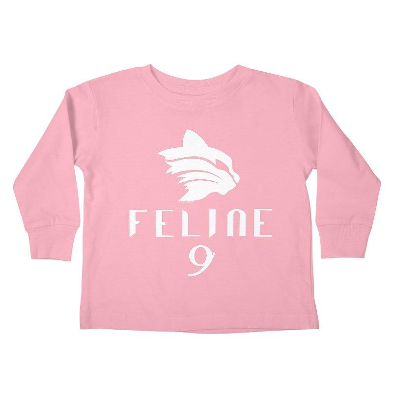 Feline 9 - WHITE Kids Toddler Longsleeve T-Shirt by Juleah Kaliski Designs