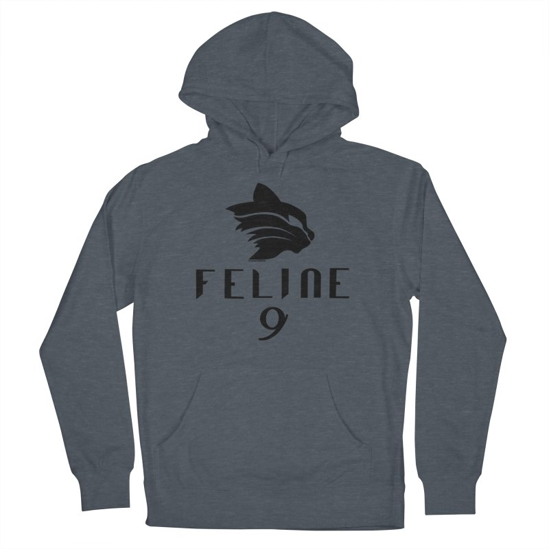 Feline 9 - BLACK Women's French Terry Pullover Hoody by Juleah Kaliski Designs