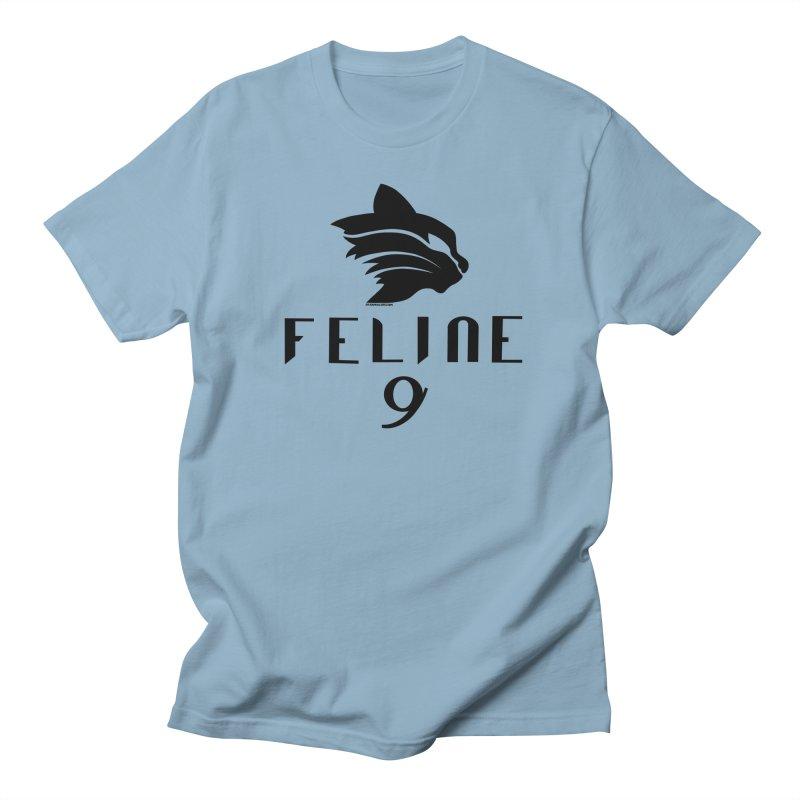 Feline 9 - BLACK Women's Regular Unisex T-Shirt by Juleah Kaliski Designs