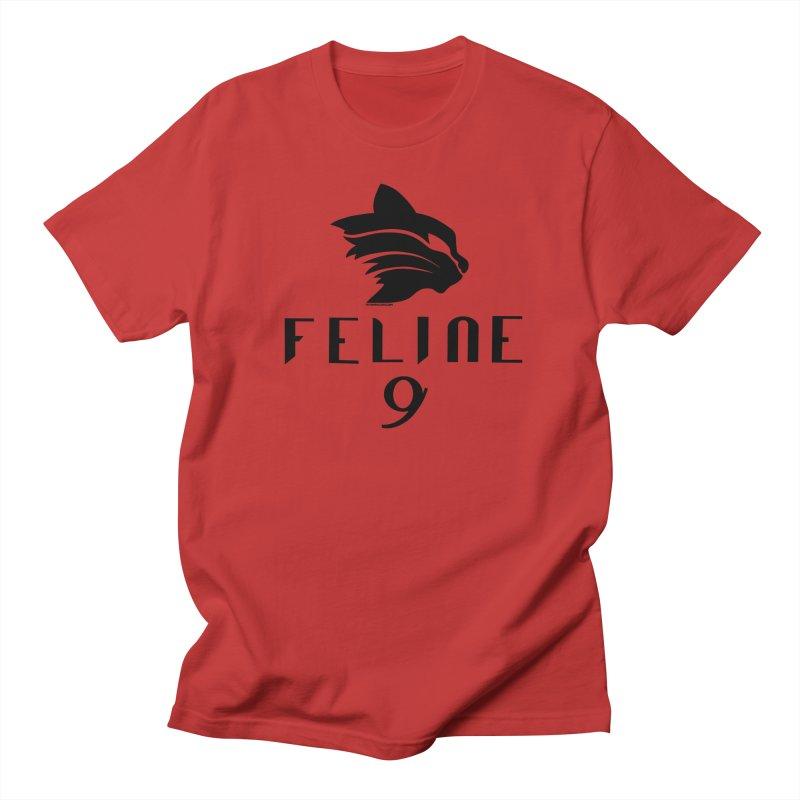 Feline 9 - BLACK Women's Unisex T-Shirt by Juleah Kaliski Designs
