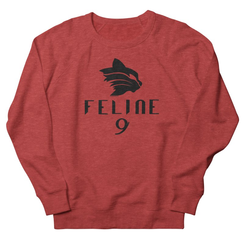 Feline 9 - BLACK Men's French Terry Sweatshirt by Juleah Kaliski Designs