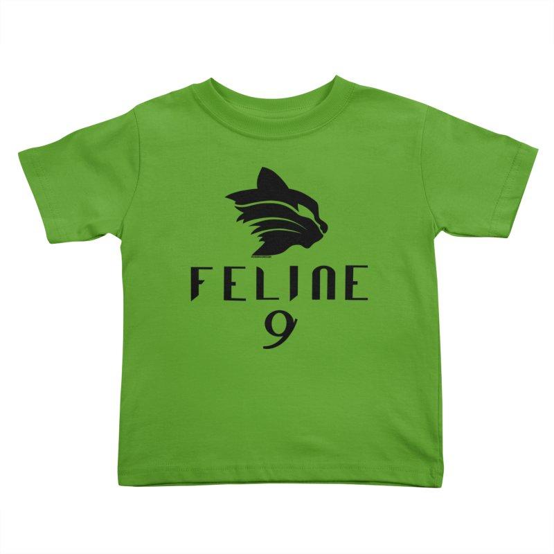 Feline 9 - BLACK Kids Toddler T-Shirt by Juleah Kaliski Designs