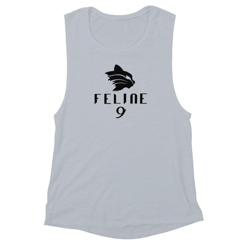 Feline 9 - BLACK Women's Muscle Tank by Juleah Kaliski Designs