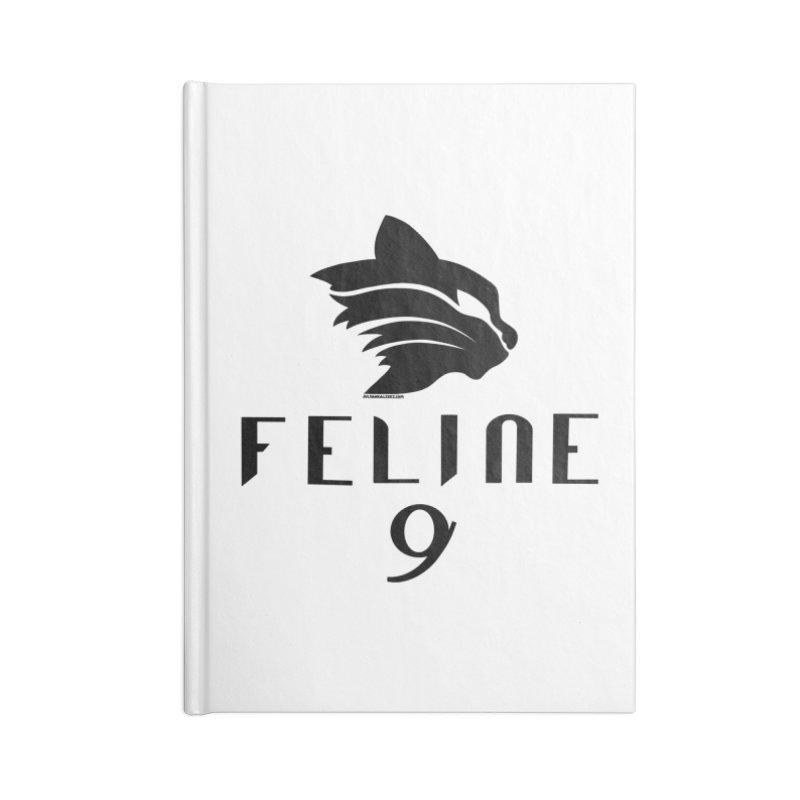 Feline 9 - BLACK Accessories Notebook by Juleah Kaliski Designs