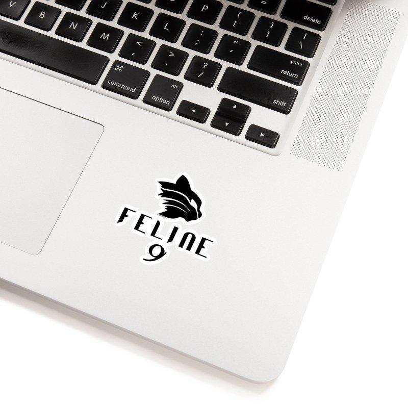 Feline 9 - BLACK Accessories Sticker by Juleah Kaliski Designs
