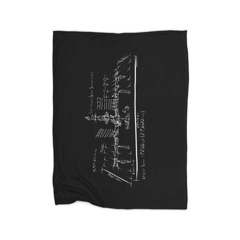 ISS dimensions Home Fleece Blanket Blanket by Juleah Kaliski Designs