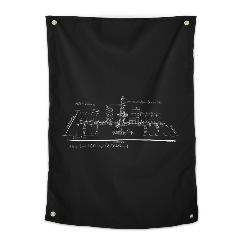 ISS dimensions Home Tapestry by Juleah Kaliski Designs