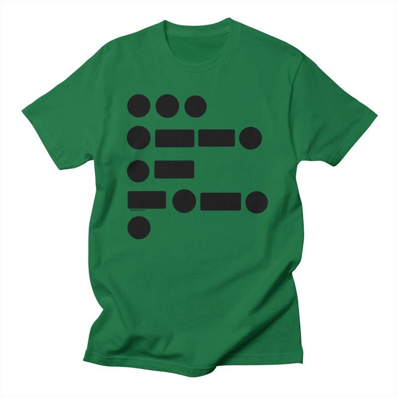 S P A C E Morse Code Men's T-Shirt by Juleah Kaliski Designs