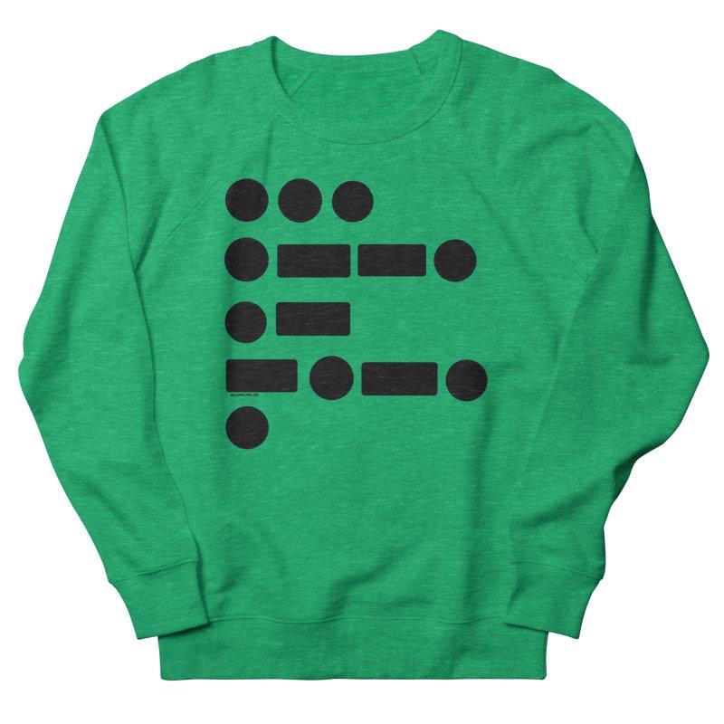 S P A C E Morse Code Women's French Terry Sweatshirt by Juleah Kaliski Designs