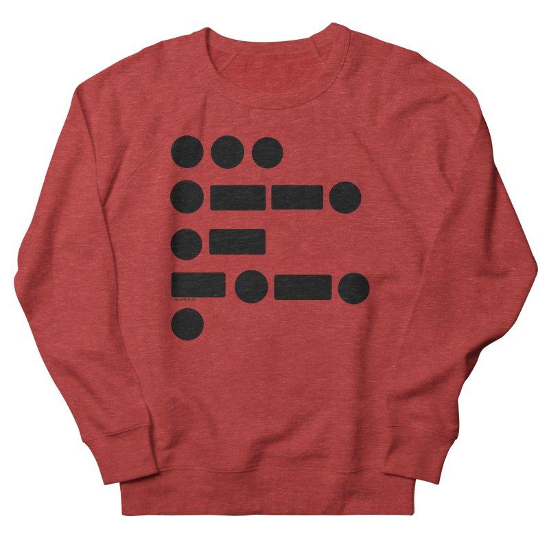 S P A C E Morse Code Men's French Terry Sweatshirt by Juleah Kaliski Designs