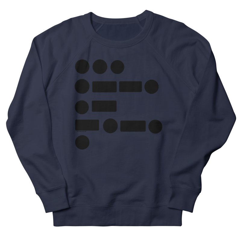 S P A C E Morse Code Men's French Terry Sweatshirt by Juleah Kaliski Designs